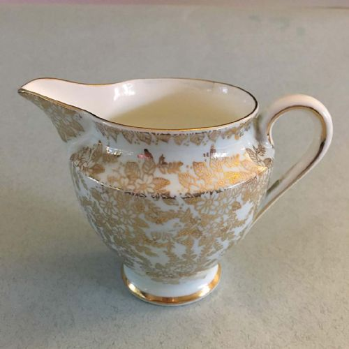 Colclough - Art Deco -  Blue & Gold Chintz - Milk Jug Creamer
